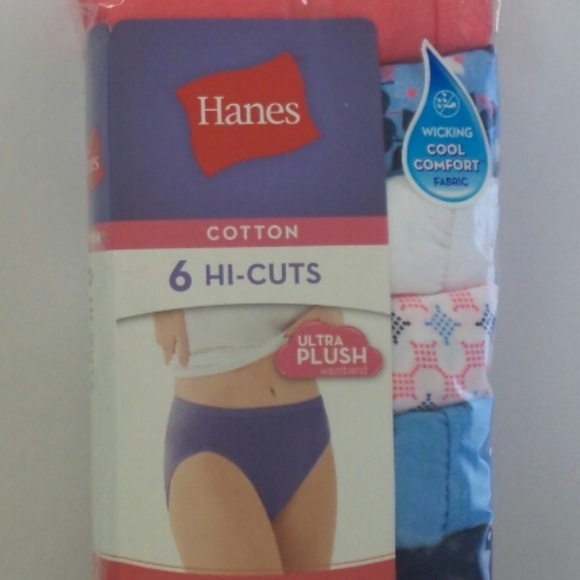 1203bb819722 Hanes Intimates & Sleepwear | Womens 6 Pack Cotton Hicuts Size 10 ...